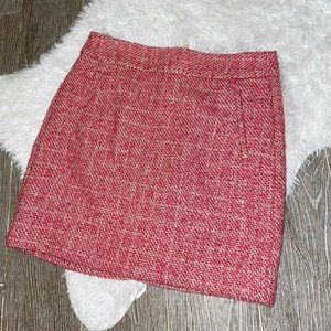 Banana Republic Womens Tweed Skirt Pink White Size